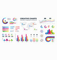 graphs and charts business statistics for data vector image vector image