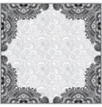 Grey vintage floral ornamental template on flower