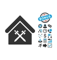 Guard Office Flat Icon with Bonus vector image vector image