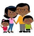 happy african american family vector image