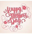 Happy mothers day Card Calligraphic inscription vector image vector image