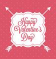 happy valentine day alphabet with vintage vector image vector image
