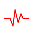 heartbeat icon vector image