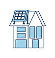 house with solar roof panels for real estate vector image