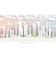 houston texas usa city skyline in paper cut style vector image