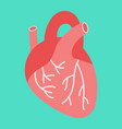 human heart flat icon medicine and healthcare vector image