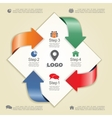 Infographic design template with elements and vector image vector image