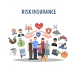 Insurance Concept Flat vector image vector image