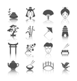 Japanese culture icons set vector image