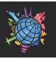 landmarks around world vector image vector image