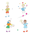 learning kids vector image