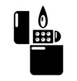 lighter icon simple black style vector image