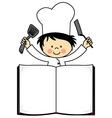 Little chef boy vector image