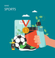 make sports flat style design vector image vector image