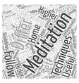 meditation instructions Word Cloud Concept vector image vector image
