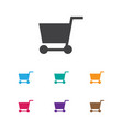 of business symbol on pushcart vector image