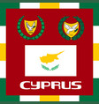 official government ensigns of cyprus vector image vector image