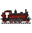 old red tank engine steam locomotive vector image vector image