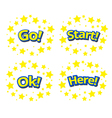 phrases written in a cartoon game style vector image vector image