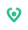 pin location love shape symbol design vector image