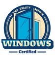 plastic window logo vector image