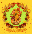 poster on theme halloween holiday party cute vector image