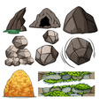 Rocks and cave vector image vector image