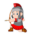 roman soldier with bow vector image vector image