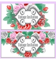 Rose flowers and leaves vector image vector image