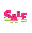 sale watermelon text vector image vector image