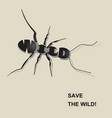 save the wild4 vector image vector image
