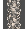 Seamless lace vertical ribbon with abstract floral vector image vector image