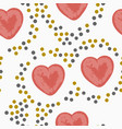 seamless pattern with valentine s day elements vector image vector image