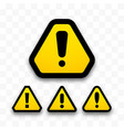 set hazard warning attention signs danger vector image