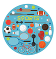 Sports Equipment Flat Icons Label vector image vector image