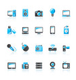 technology and multimedia devices icons vector image