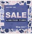 terrazzo sale social media ad in pink purple vector image