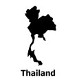 thailand map icon simple style vector image