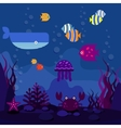 Underwater world vector image vector image
