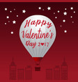 Valentines Day 2017 Heart Hot Air Balloons vector image vector image