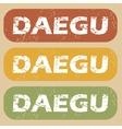 Vintage Daegu stamp set vector image vector image