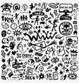 web doodle set vector image