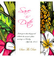 wedding invitation or card design with exotic vector image vector image