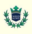 weed king logo vector image vector image