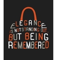 Woman bag made from quote vector image vector image