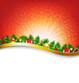 Xmas Sunburst Red Poster vector image vector image