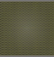 yellow metal grille honeycomb vector image vector image
