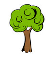 green tree icon cartoon vector image