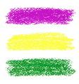 Mardi Gras pastel crayon brush strokes vector image
