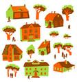 architecture design elements set of cute vector image